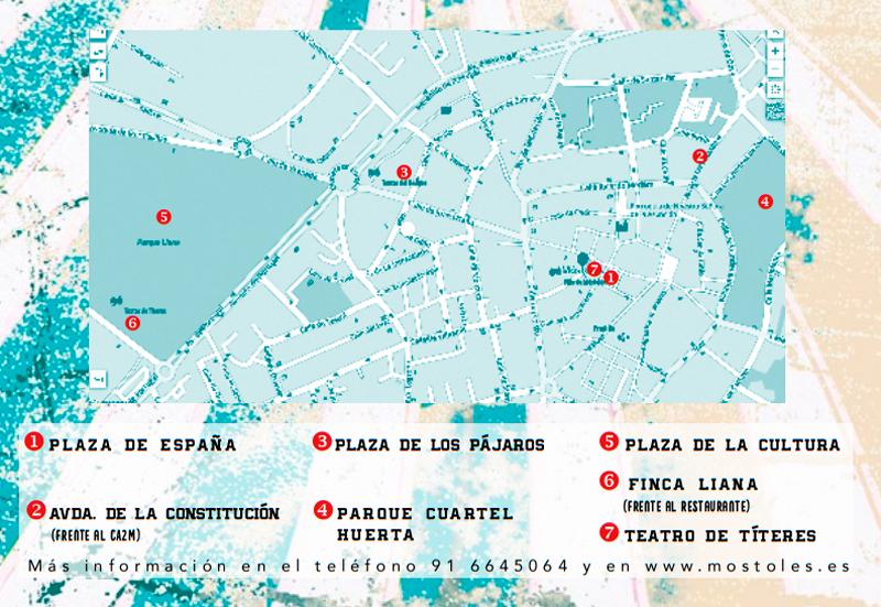 mapa eventos a arte kalle mostoles