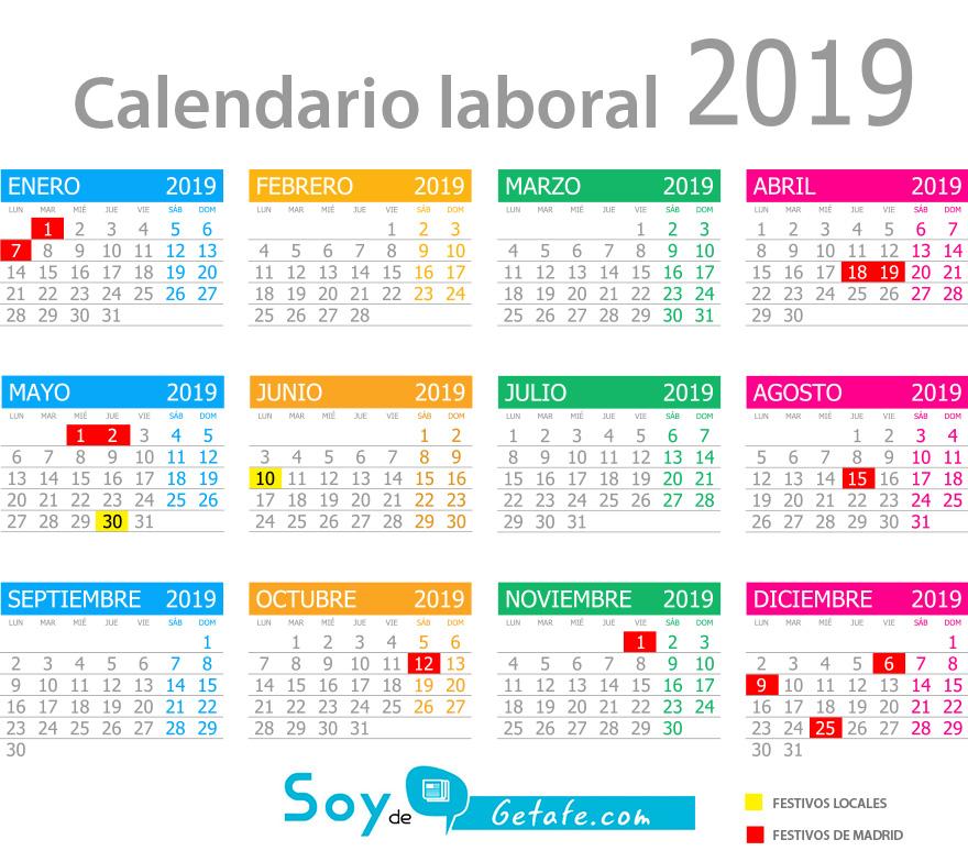 calendario laboral de getafe 2019