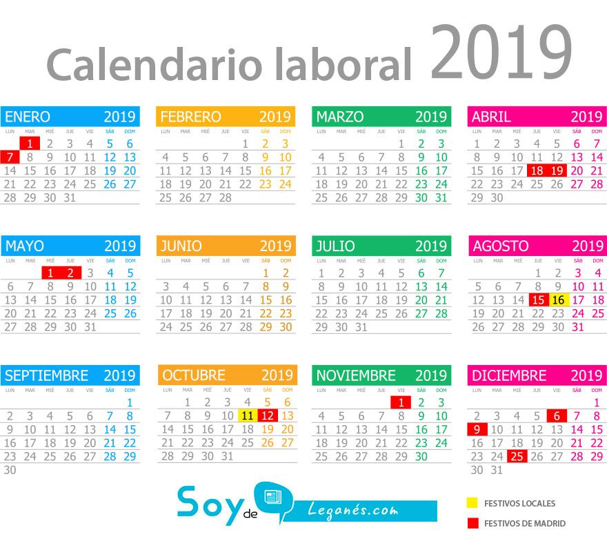 calendario laboral leganes 2019