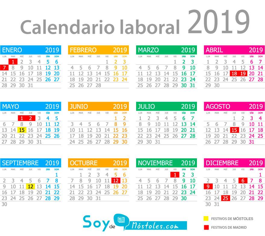 Calendario Festivo.El Calendario Laboral De Mostoles Ya Disponible Soyde