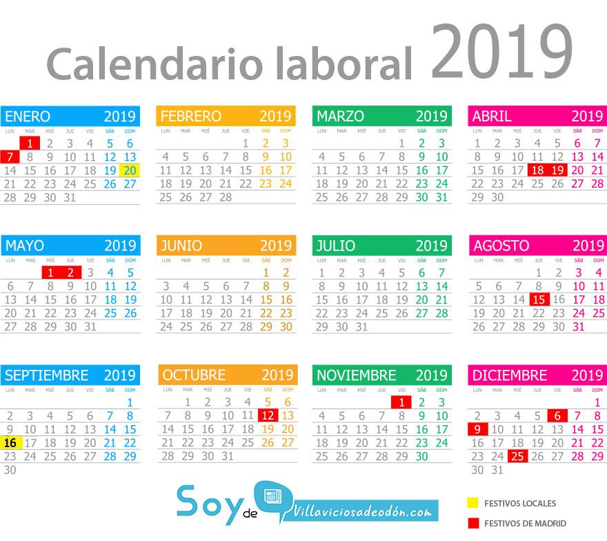 Calendario Laboral 2019 Ciudad Real.Todos Los Festivos De Villaviciosa De Odon Y La Comunidad De Madrid