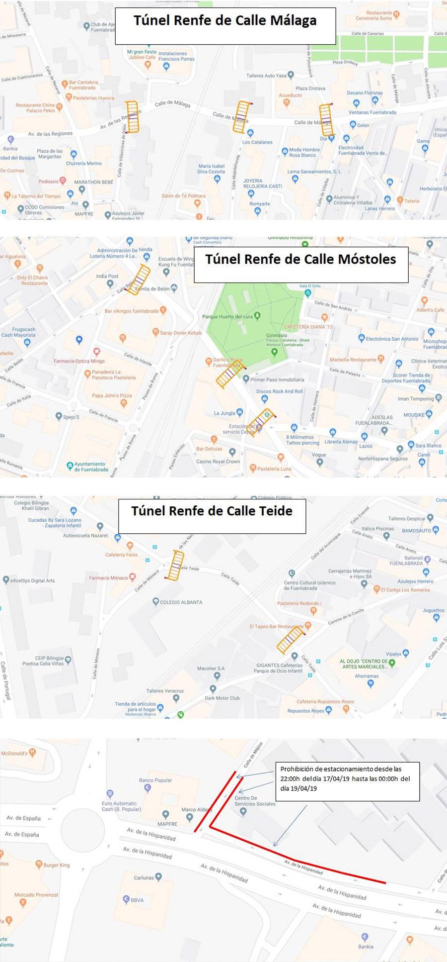 Restricciones de tráfico y de aparcamiento ante el riesgo de inundaciones en Fuenlabrada