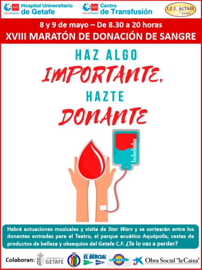 maraton donacion sangre getafe