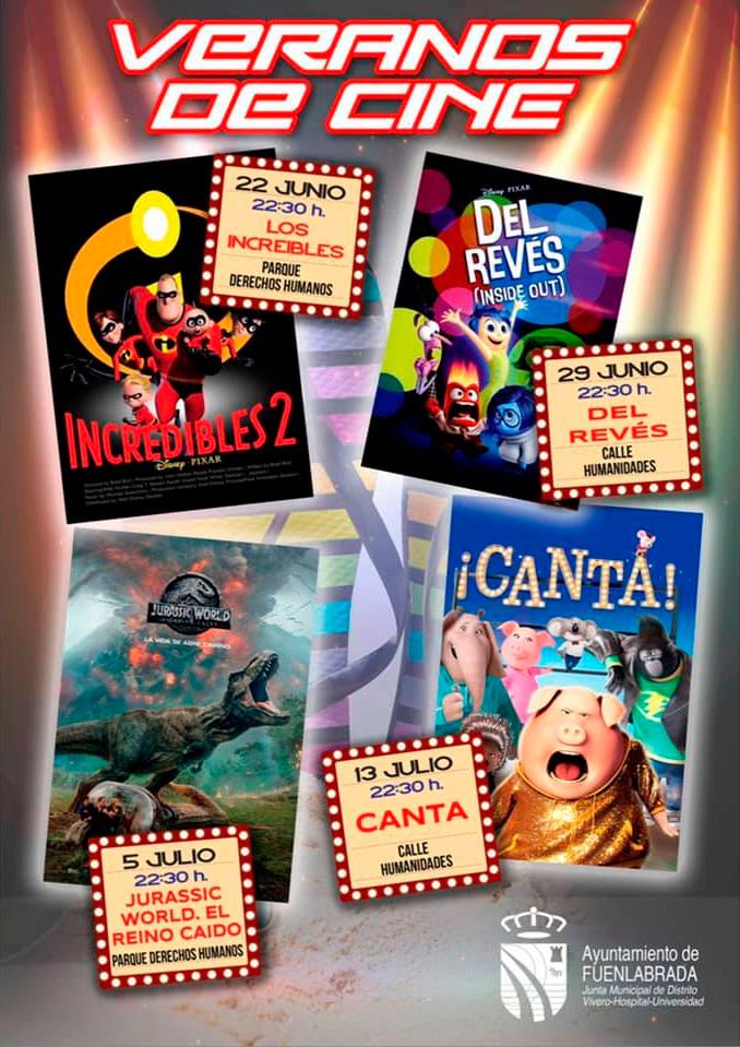 cine de verano en fuenlabrada cartel