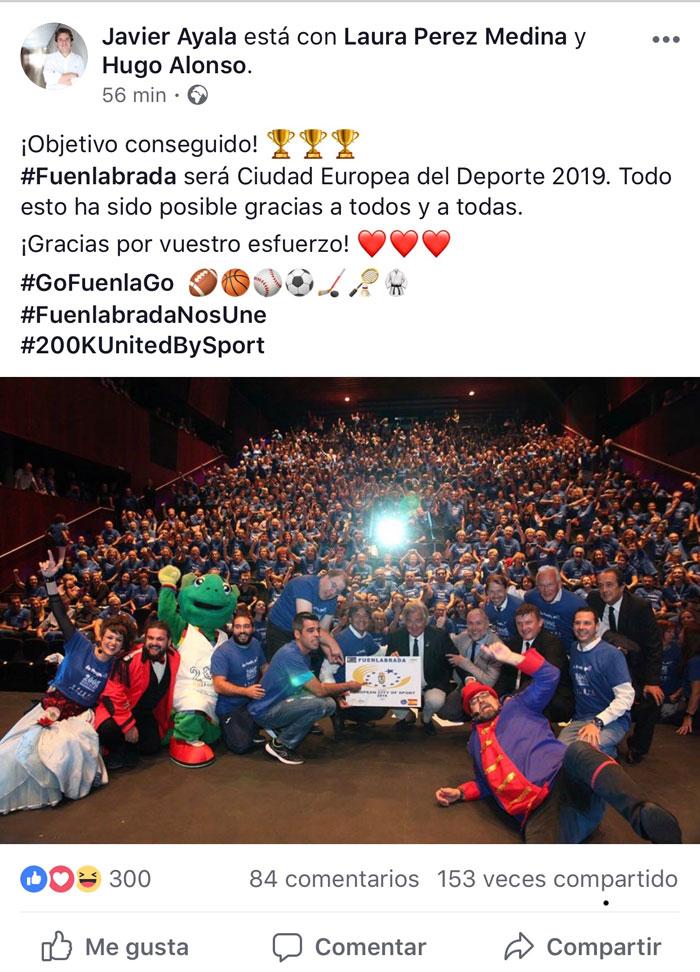 facebook Ayala- Fuenlabrada ciudad del deporte 2019