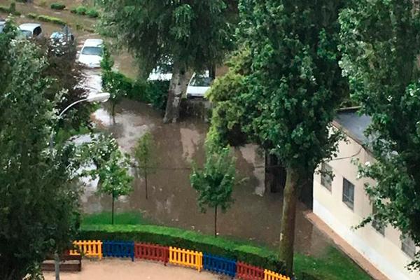 Inundación en Fuenlabrada