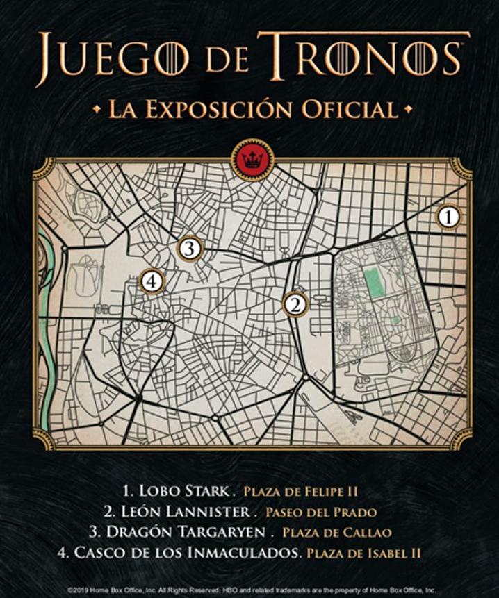 mapa de la localizacion de las estatuas de juego de tronos