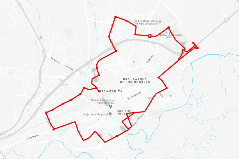 Barrio Venecia Alcala De Henares Mapa.La Nueva Linea De Autobus De Alcala Se Estrenara El Proximo