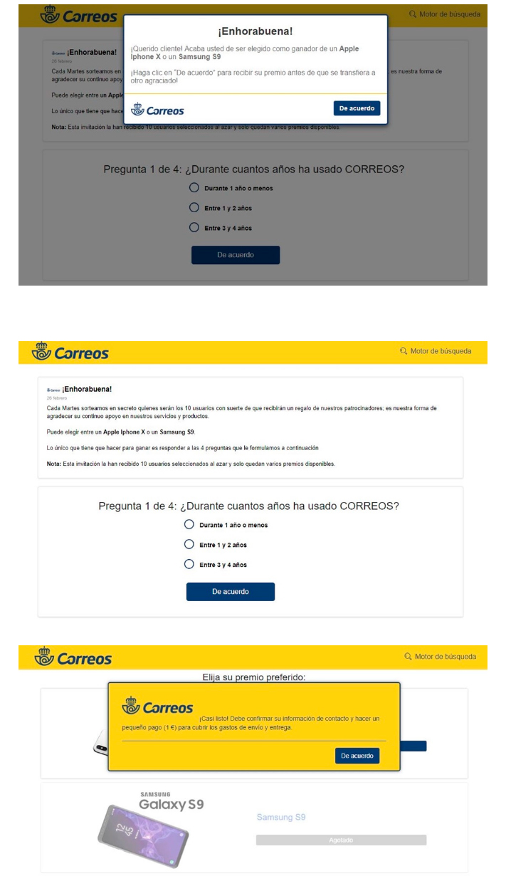 estafa phishing correos