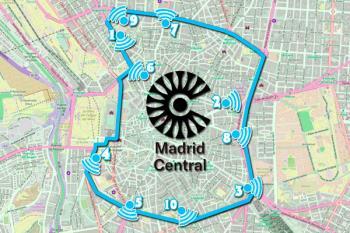 Las 472 hectáreas que componen Madrid Central están vigiladas por 115 cámaras