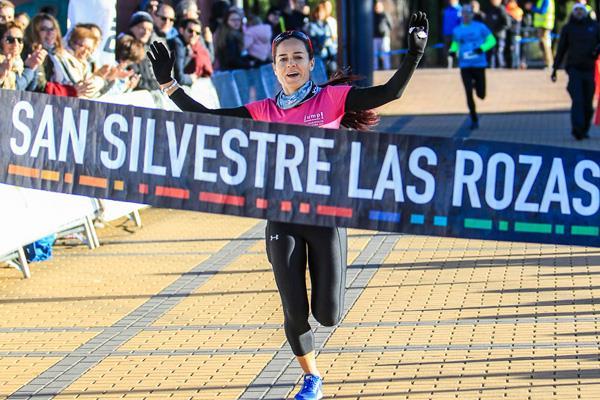 Sonia de la Calle y Luis Miguel Martín, ganadores de la San Silvestre roceña