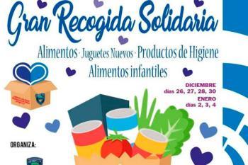 La Federación de Peñas de Getafe C.F. recauda alimentos, juguetes y productos de higiene