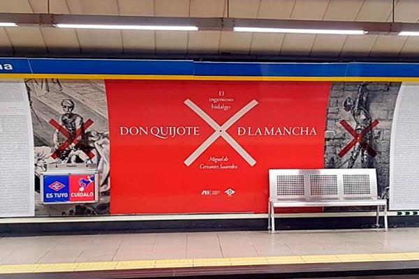 'En un lugar de Metro se expone la obra de El Quijote al completo'