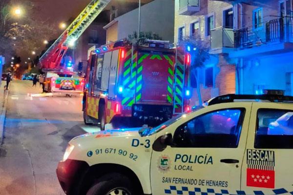 'Gloria' también causa incidencias en San Fernando de Henares