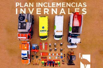 Una representación del equipo humano y material formó parte de la iniciativa de cuerpos de seguridad y emergencias