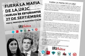 Asociaciones de estudiantes de la URJC convocan una huelga el 27 de septiembre para pedir la dimisión del rector