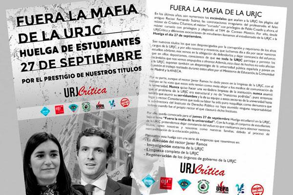 """""""Fuera la mafia de la URJC"""""""