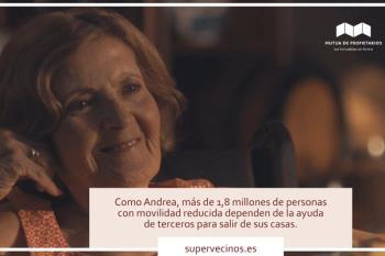 Más de 1,8 millones de personas con movilidad reducida como Andrea necesitan ayuda para salir de sus casas
