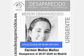 Carmen desapareció el día de ayer, 26 de julio, en Madrid