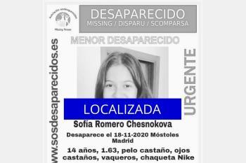 SOS Desaparecidos alerta sobre una menor desaparecida de 14 años de edad