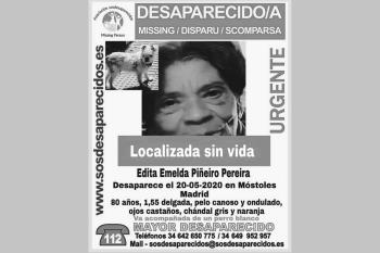 La mujer desapareció el 20 de mayo cuando salió como todos los dias a pasear a su perro