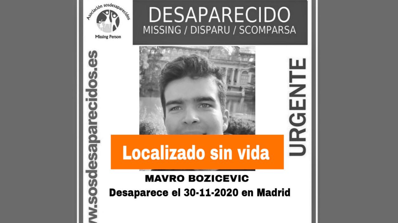 Mavro Bozicevic lleva desparecido desde el pasado 30 de noviembre de 2020