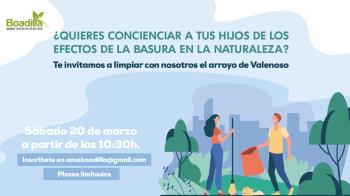Jornada de limpieza en el arroyo de Valenoso el 20 de marzo