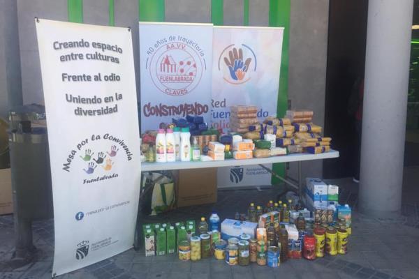 10.000 kg de alimentos no perecederos para familias en situaciones de vulnerabilidad tras la iniciativa de recogida de la Red de Fuenlabrada Solidaria