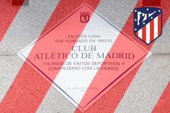 Se ha instalado una placa conmemorativa en el lugar donde se fundó el Atleti