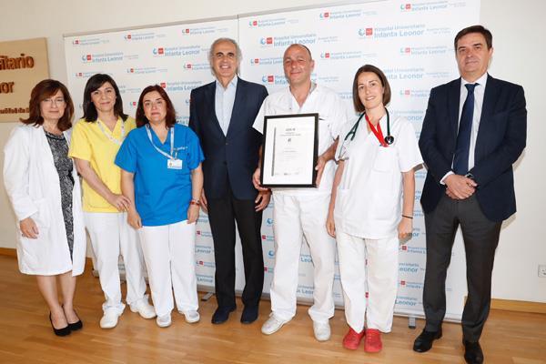 15 certificaciones de calidad reconocen la excelencia del Hospital Universitario Infanta Leonor