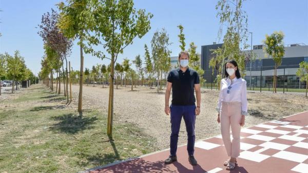Se trata de una nueva zona verde de 7.000 metros cuadrados que bordea el Centro Deportivo-Spa Inacua