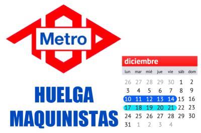 Lee toda la noticia '4  meses de paros realizarán los maquinistas del Metro de Madrid'