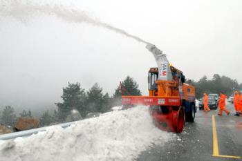 Existe una alerta amarilla por riesgo de nevadas en la Sierra de Madrid, se estiman hasta cinco centímetros de nieve
