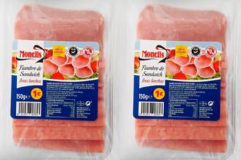 Sanidad ha comunicado que el fiambre de cerdo de la marca Monells contiene trazas de soja no declaradas