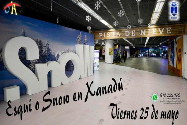 Abierto el plazo de inscripción para una actividad de esquí en el Centro Comercial Xanadú