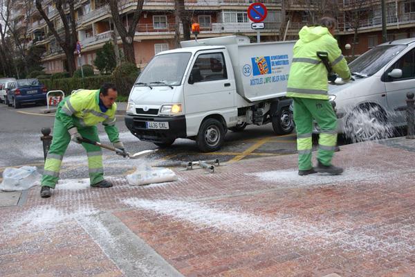 Activado el Plan contra las heladas y nevadas en Móstoles