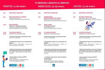 Las jornadas, que se celebran hasta el 23 de enero, se desarrollan en el Centro de Empleo y Promoción Económica Tierno Galván
