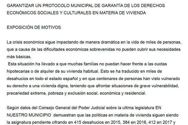 """""""Alarmante número de desahucios en el municipio de Móstoles"""""""