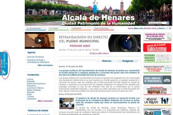Alcalá instala en su web una herramienta de accesibilidad para personas con diversidad funcional