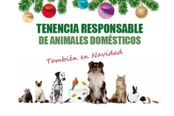 Con motivo de estas navidades, fechas en las que muchas personas piensan en regalar animales, el Ayuntamiento de Alcalá ha lanzado esta campaña informativa