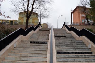 Lee toda la noticia 'Alcalá de Henares reforma las escaleras de la calle Alcor'