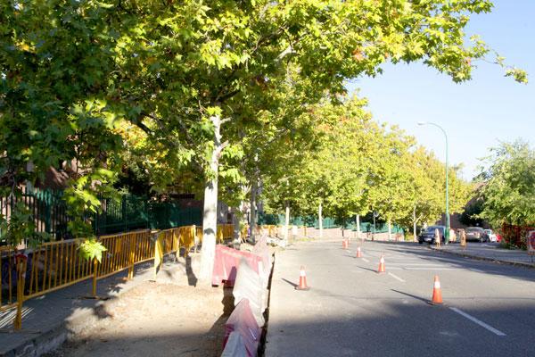 Alcobendas invertirá 25.000 euros en este aparcamiento en línea, que estará situado frente al instituto Severo Ochoa