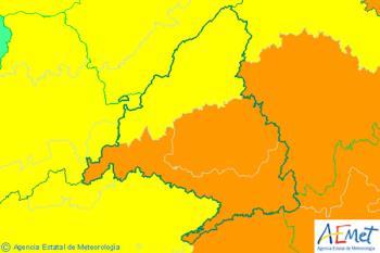 AEMET ha declarado para mañana viernes la alerta por riesgo importante de lluvia y granizo en casi toda la región