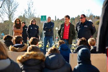 Los alumnos roceños reciben tanto formación teórica como clases prácticas en el Parque Municipal