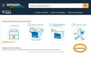 A partir de ahora, los productos de Amazon se podrán devolver sin embalaje a través de 2000 puntos de Celeritas