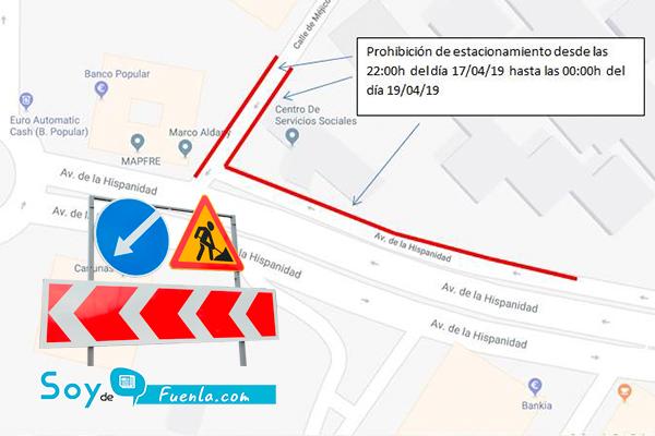 La calle Méjico y la avenida de la Hispanidad, entre otras, tendrán el aparcamiento restringido a partir de esta noche