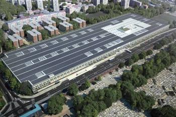 El nuevo edificio sostenible albergará un total de 333 autobuses