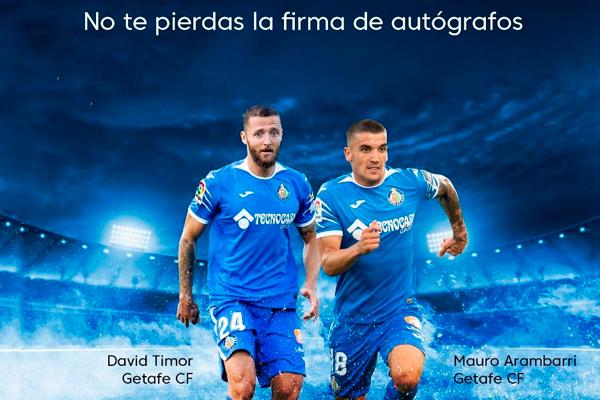 Los jugadores del Getafe CF recibirán a la afición azulona y podremos participar en las competiciones que nos ha preparado LaLiga