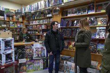 La tienda ha recibido la reciente visita de la alcaldesa en el marco de sus encuentros con comercios locales