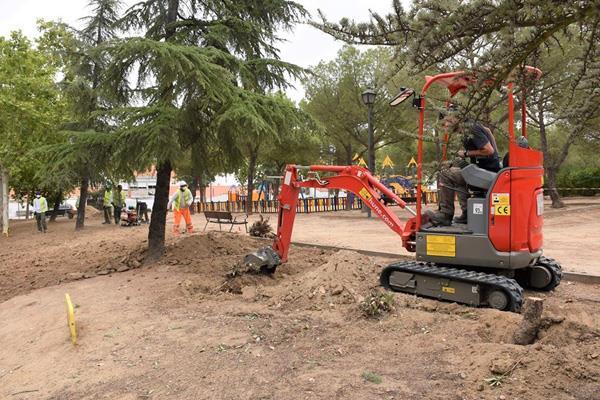 Arrancan las obras en el parque Antonio Machado